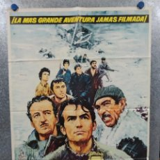 Cine: LOS CAÑONES DE NAVARONE. GREGORY PECK, DAVID NIVEN, RICHARD HARRIS AÑO 1961. POSTER ORIGINAL ESTRENO. Lote 239461805