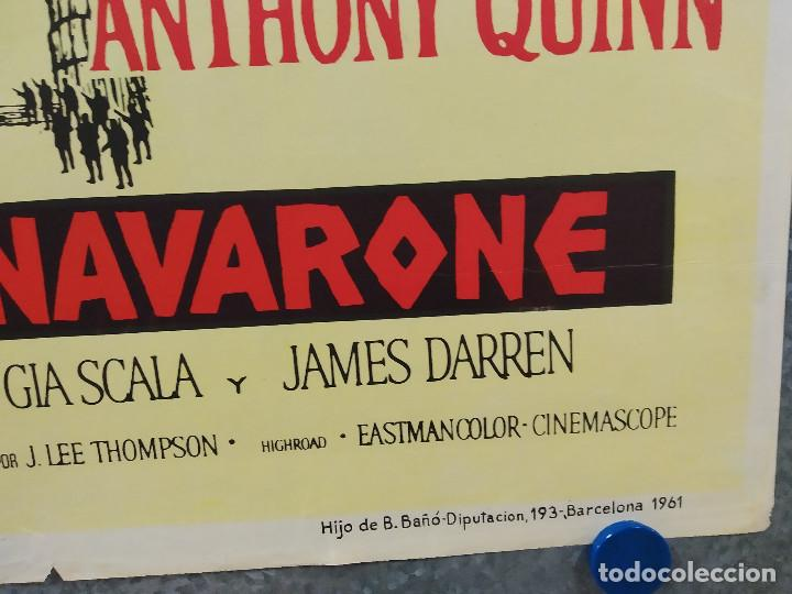 Cine: Los cañones de Navarone. Gregory Peck, David Niven, Richard Harris AÑO 1961. POSTER ORIGINAL ESTRENO - Foto 4 - 239461805