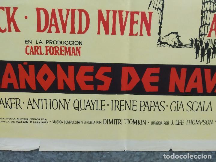 Cine: Los cañones de Navarone. Gregory Peck, David Niven, Richard Harris AÑO 1961. POSTER ORIGINAL ESTRENO - Foto 5 - 239461805