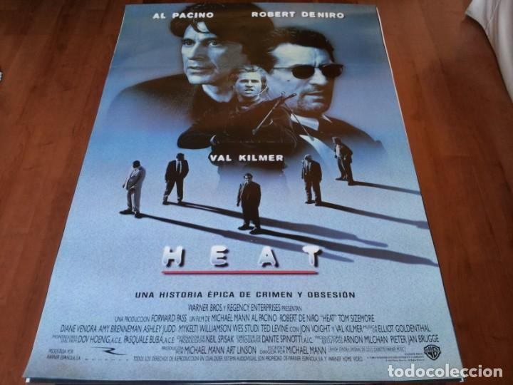 HEAT - ROBERT DE NIRO, AL PACINO, VAL KILMER, JON VOIGHT, ASHLEY JUDD - POSTER ORIGINAL WARNER 1995 (Cine - Posters y Carteles - Acción)