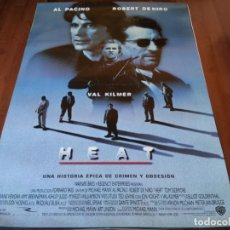 Cine: HEAT - ROBERT DE NIRO, AL PACINO, VAL KILMER, JON VOIGHT, ASHLEY JUDD - POSTER ORIGINAL WARNER 1995. Lote 239486940