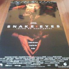 Cine: SNAKE EYES OJOS DE SERPIENTE - NOCOLAS CAGE, GARY SINISE - POSTER ORIGINAL BUENAVISTA 1998. Lote 239491195