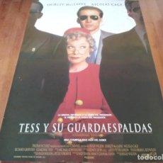 Cine: TESS Y SU GUARDAESPALDAS - SHIRLEY MACLAINE, NICOLAS CAGE - POSTER ORIGINAL COLUMBIA 1994. Lote 239491340