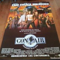 Cine: CON AIR - NICOLAS CAGE, JOHN CUSACK, JOHN MALKOVICH, STEVE BUSCEMI - POSTER ORIGINAL BUENAVISTA 1997. Lote 239491455