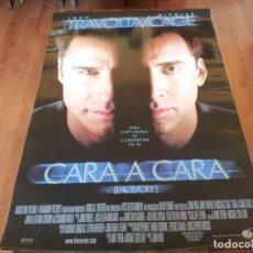 Cine: CARA A CARA - JOHN TRAVOLTA, NICOLAS CAGE, JOAN ALLEN,GINA GERSHON - POSTER ORIGINAL BUENAVISTA 1997. Lote 239491580