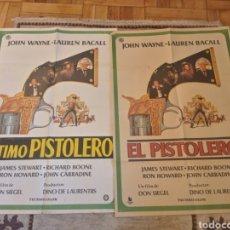 Cine: RAREZA CARTELES EL PISTOLERO Y EL ÚLTIMO PISTOLERO JOHN WAYNE LAUREN BACALL DON SIEGEL. Lote 239553155