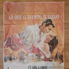 Cine: LO QUE EL VIENTO SE LLEVO POR CLARK GABLE, VIVIEN LEIGH, LESLIE HOWARD Y OLIVIA DE HAVILLAND.1939.. Lote 283764353