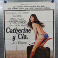 Cine: CATHERINE & CIA - ET CIE. JANE BIRKIN, PATRICK DEWAERE. AÑO 1978. POSTER ORIGINAL. Lote 239674370