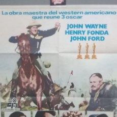 Cine: FORT APACHE CARTEL ORIGINAL AÑO 1982-JOHN WAYNE HENRY FONDA1X70-. Lote 239676420