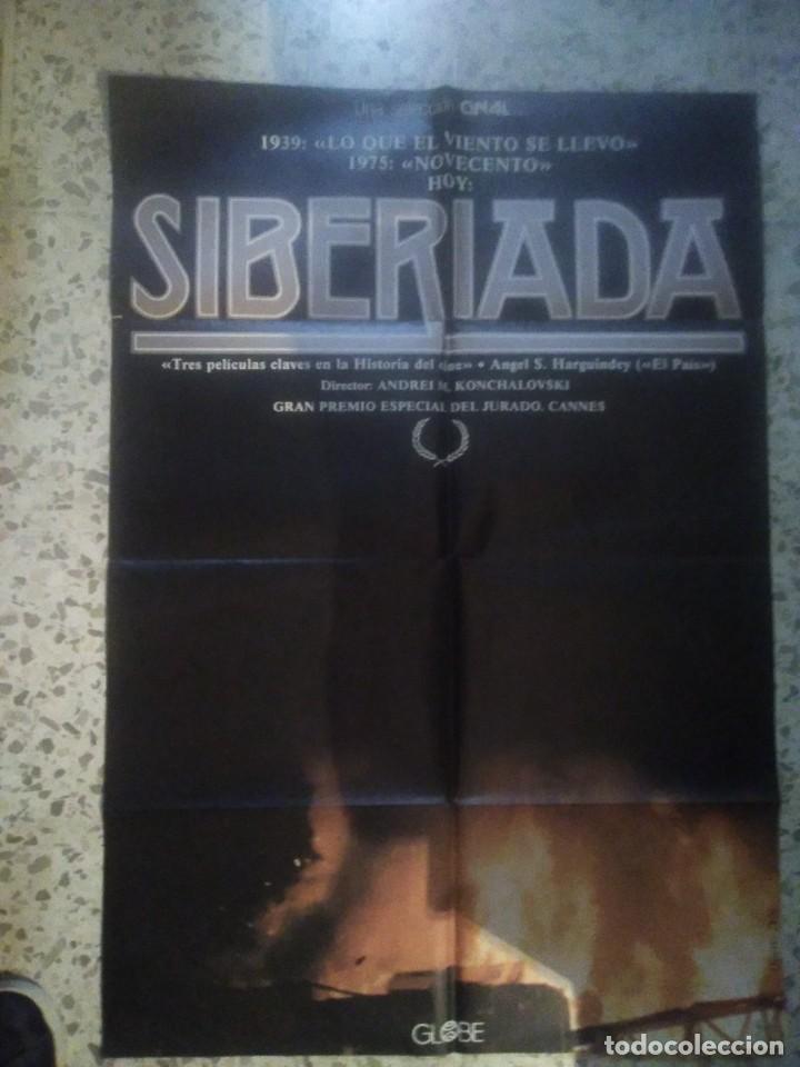 POSTER CARTEL DE CINE ORIGINAL ESPAÑOL - SIBERIADA - ANDREI KONCHALOVSKY - ARTE Y ENSAYO (Cine - Posters y Carteles - Suspense)