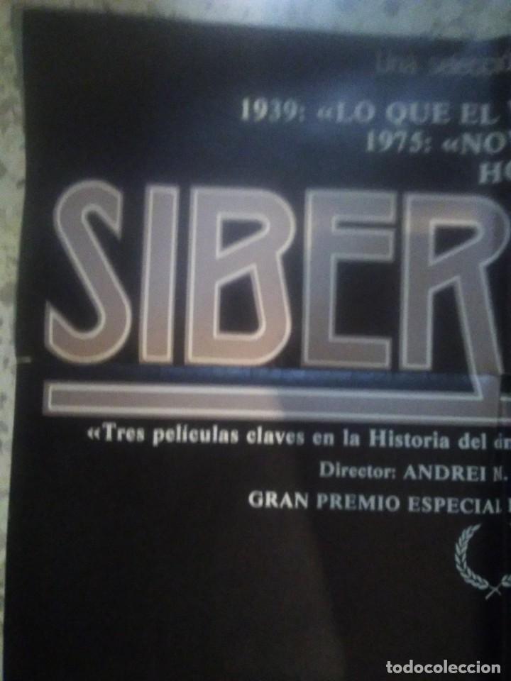 Cine: poster cartel de cine original español - siberiada - Andrei Konchalovsky - arte y ensayo - Foto 2 - 239704560