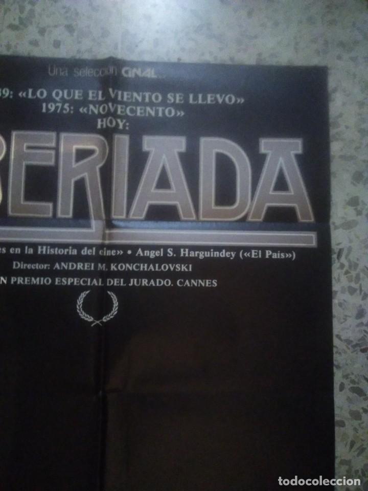 Cine: poster cartel de cine original español - siberiada - Andrei Konchalovsky - arte y ensayo - Foto 3 - 239704560