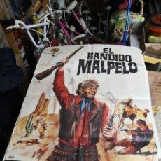 Cine: EL BANDIDO MALPELO EDUARDO FAJARDO CHARO LOPEZ SPAGHETTI POSTER ORIGINAL 70X100. Lote 239750975