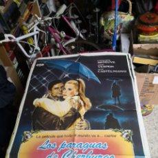 Cine: LOS PARAGUAS DE CHERBURGO JACQUES DEMY CATHERINE DENEUVE POSTER ORIGINAL 70X100. Lote 239751725