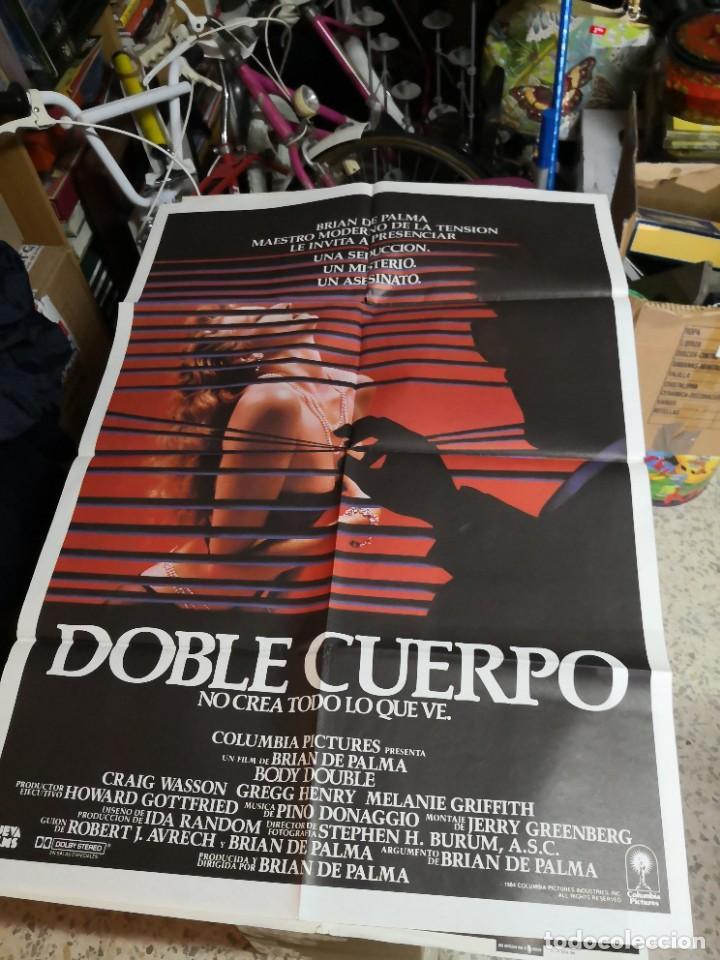 POSTER ORIGINAL DE CINE 70X100CM DOBLE CUERPO DE BRIAN DE PALMA (Cine - Posters y Carteles - Suspense)