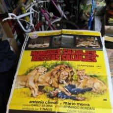 Cine: CARTEL: HOMBRES SALVAJES, BESTIAS SALVAJES (CLIMATI, MORRA) MONDO MOVIE. Lote 239754570