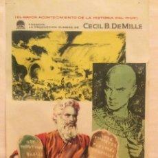 Cine: LOS DIEZ MANDAMIENTOS CARTEL PRUEBA ORIGINAL DE CINE CECIL B DE MILLE 1959 ILUSTRADO MAC 55 X 25. Lote 239771000