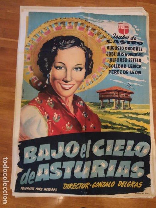GRAN CARTEL DE CINE BAJO EL CIELO DE ASTURIAS ORIGINAL (Cine - Posters y Carteles - Documentales)