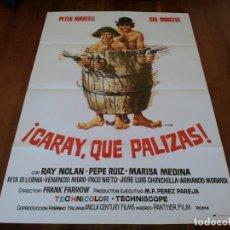 Cine: CARAY,QUÉ PALIZAS! - SALVATORE BORGHESE,PIETRO MARTELLANZA,RITA DI LERNIA - POSTER ORIGINAL CEA 1975. Lote 240713625