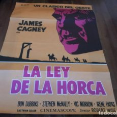 Cine: LA LEY DE LA HORCA - JAMES CAGNEY, IRENE PAPAS, VIC MORROW - POSTER ORIGINAL DAGA REPOSICION. Lote 240716260