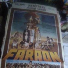 Cine: FARAON CINE POLACO JERRY KAWALEROWICZ POSTER ORIGINAL 70X100 ESPAÑOL. Lote 240814025
