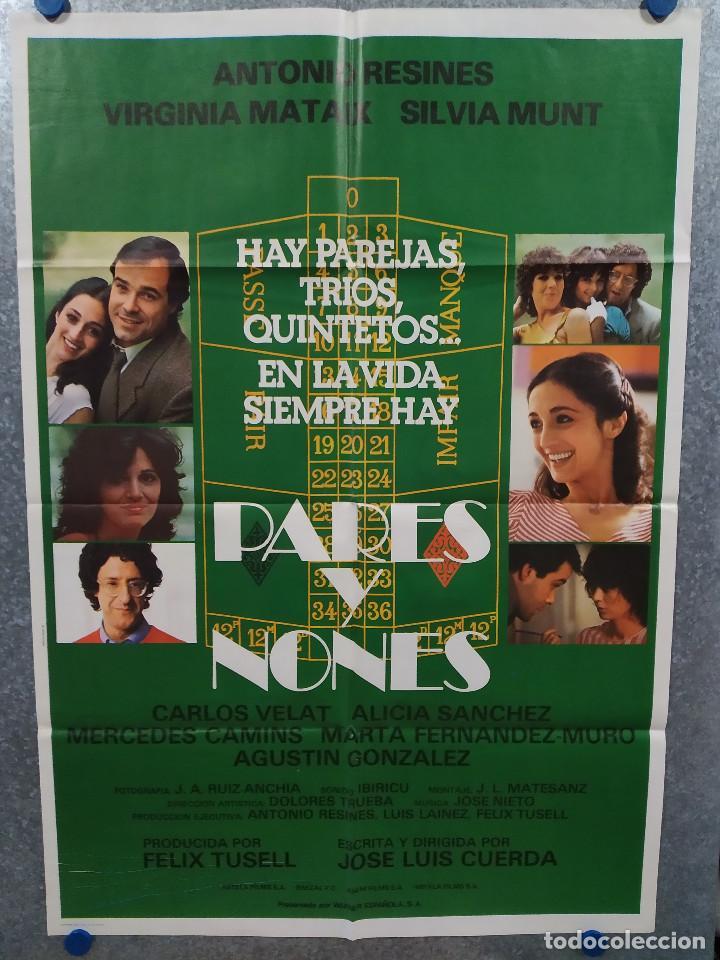 PARES Y NONES. ANTONIO RESINES, SILVIA MUNT, VIRGINIA MATAIX. AÑO 1982 . POSTER ORIGINAL (Cine - Posters y Carteles - Clasico Español)