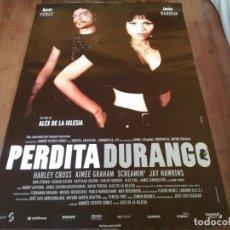 Cine: PERDITA DURANGO - JAVIER BARDEM, ROSIE PEREZ, ALEX DE LA IGLESIA - POSTER ORIGINAL SOGEPAQ AÑO 1997. Lote 240950160