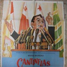 Cine: SU EXCELENCIA CANTINFLAS 1982 CARTEL DE CINE 100 X 70 CM. POSTER. Lote 212795637