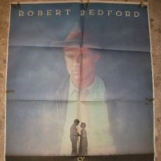 Cine: EL MEJOR 1984 ROBERT REDFORD DUVALL GLENN CLOSE KIM BASINGER CARTEL DE CINE 100 X 70 CM. POSTER. Lote 219412440