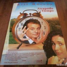 Cine: ATRAPADO EN EL TIEMPO - BILL MURRAY, ANDIE MACDOWELL - POSTER ORIGINAL COLUMBIA AÑO 1993. Lote 241141585