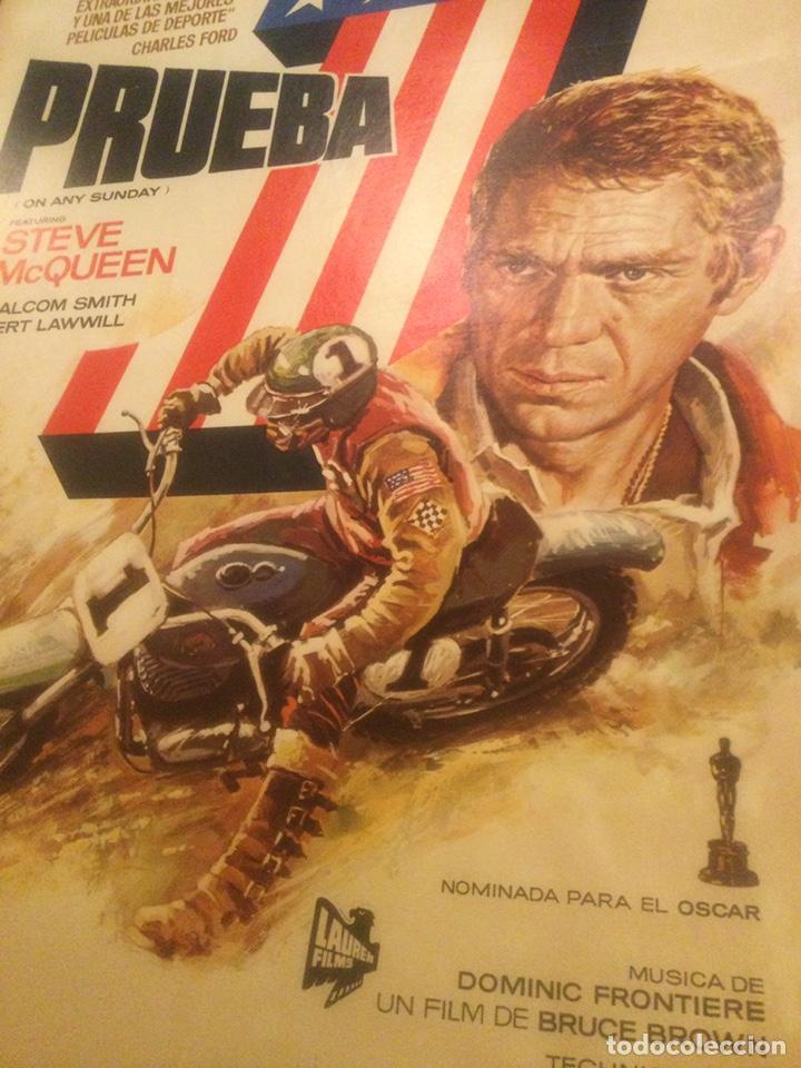 Cine: ORIGINAL CARTEL DE CINE PELICULA DEPORTE PRUEBA 1 ON ANY SUNDAY STEVE McQUEEN ILUSTRADO MAC 1982 - Foto 4 - 241432760