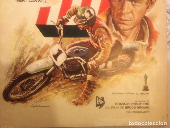 Cine: ORIGINAL CARTEL DE CINE PELICULA DEPORTE PRUEBA 1 ON ANY SUNDAY STEVE McQUEEN ILUSTRADO MAC 1982 - Foto 5 - 241432760