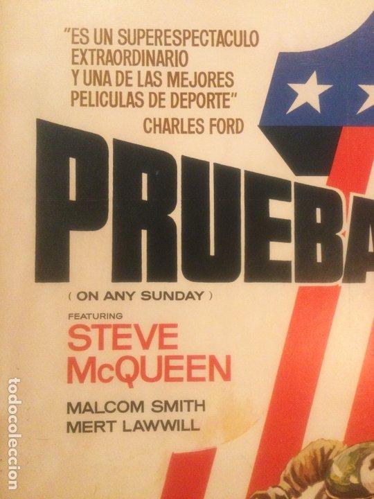 Cine: ORIGINAL CARTEL DE CINE PELICULA DEPORTE PRUEBA 1 ON ANY SUNDAY STEVE McQUEEN ILUSTRADO MAC 1982 - Foto 6 - 241432760