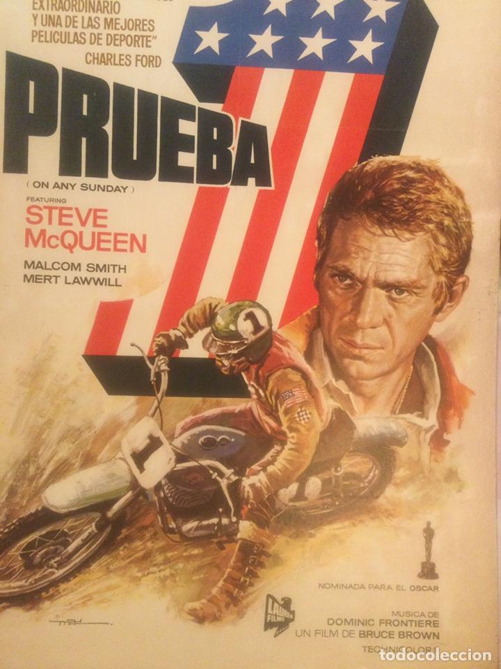ORIGINAL CARTEL DE CINE PELICULA DEPORTE PRUEBA 1 ON ANY SUNDAY STEVE MCQUEEN ILUSTRADO MAC 1982 (Cine - Posters y Carteles - Deportes)