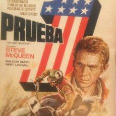 Cine: ORIGINAL CARTEL DE CINE PELICULA DEPORTE PRUEBA 1 ON ANY SUNDAY STEVE MCQUEEN DIBUJO ILUST MAC 1982. Lote 241432760