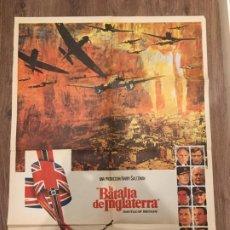 Cine: CARTEL DE CINE DEL ESTRENO DE LA PELÍCULA LA BATALLA DE INGLATERRA (1969). Lote 241486560