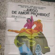 Cine: PORTER CARTEL DE CINE ORIGINAL JUEGO DE AMOR PROHIBIDO. Lote 241536790