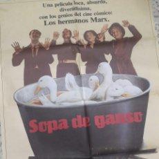 Cine: POSTER CARTEL CINE ORIGINAL SOPA DE GANSO (1933) 70X100 / HERMANOS MARX. Lote 241537985