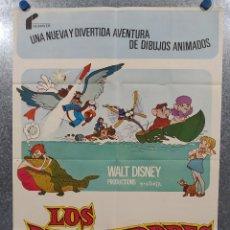 Cine: LOS RESCATADORES. WALT DISNEY. AÑO 1977. POSTER ORIGINAL. Lote 241726135