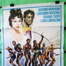 Cine: 7 ESPARTANOS .CARTEL DE CINE. 1975. RICHAR HARRISON - P2. Lote 241756330