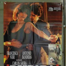 Cine: CDO 8857 DISPARA ANTONIO BANDERAS FRANCESCA NERI CARLOS SAURA POSTER ORIGINAL 70X100 ESTRENO. Lote 241762745