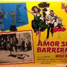Cine: WEST SIDE STORY - AMOR SIN BARRERAS - NATALIE WOOD, RICHARD BEYMER, RITA MORENO - 5 LOBBY CARDS. Lote 241793390