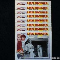 Cine: LAS AMIGAS - PEDRO LAZAGA - SONIA BRUNO, TERESA GIMPERA, JULIA GUTIÉRREZ CABA - LOBBY CARDS. Lote 241796495