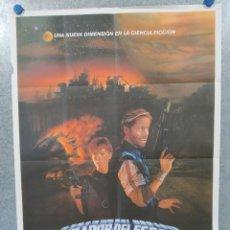 Cinema: CAZADOR DEL ESPACIO: AVENTURAS EN LA ZONA PROHIBIDA. PETER STRAUSS AÑO 1983. POSTER ORIGINAL. Lote 241949165