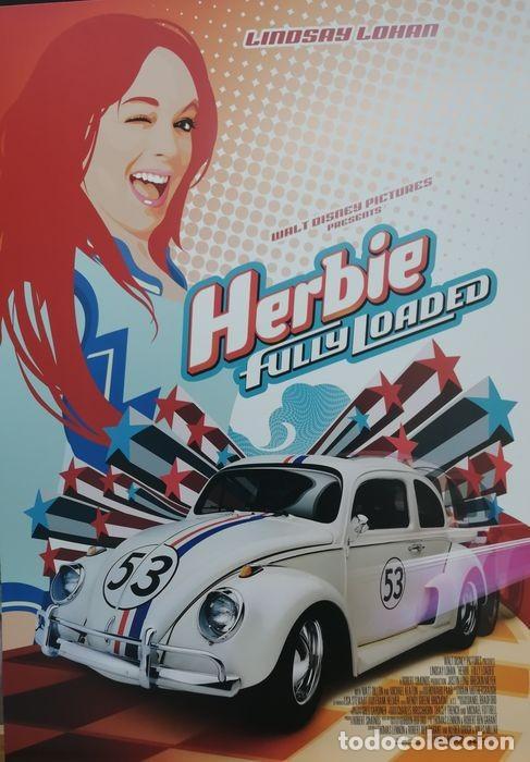 """VOLKSWAGEN """"HERBIE"""" ESCARABAJO - FULLY LOADED - UNKNOWN - AUTENTICO DISNEY ANTIGUO ORIGINAL (Cine - Posters y Carteles - Ciencia Ficción)"""