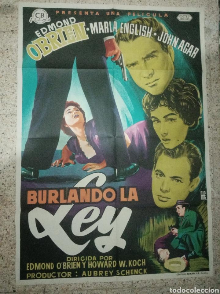 Cine: Cartel original español burlando la ley, edmund obrien, marla english, john agar - Foto 6 - 242394140