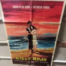 Cine: CIELO ROJO RODOLFO DE ANDA PATRICIA CONDE POSTER ORIGINAL 70X100 YY (2571). Lote 242666820