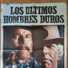 Cine: LOS ULTIMOS HOMBRES DUROS / CHARLTON HESTON / JAMES COBURN / 100X70. Lote 242824405