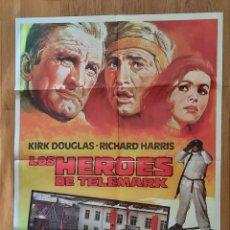 Cine: LOS HEROES DE TELEMARK / KIRK DOUGLAS / RICHARD HARRIS / ILUSTRA MATAIX 100X70. Lote 242825030