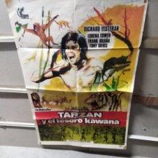 Cine: TARZAN Y EL TESORO KAWANA POSTER ORIGINAL 70X100 YY (2583). Lote 242826250